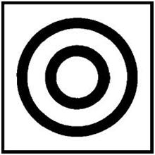 Symbol Koaxialität-Konzentrizität