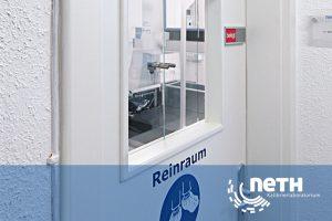 Reinraum des Kalibrierlaboratoriums Akkreditiert nach DIN EN ISO 17025