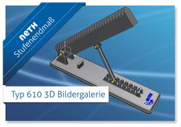 Neth Stufenendmaß Typ 610 3D-Konstruktionsansicht
